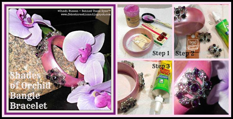 Shades of Orchid Bangle Bracelet
