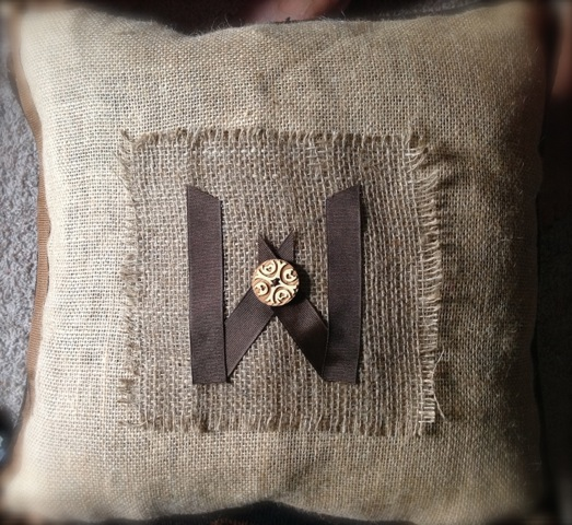 Rustic Sofa Pillow Re-Do