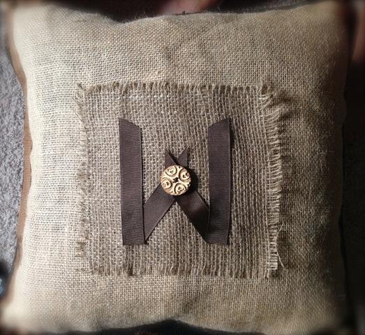 Rustic Sofa Pillow Re-Do