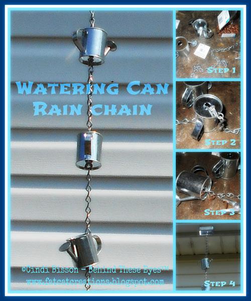 Watering Can Rain Chain