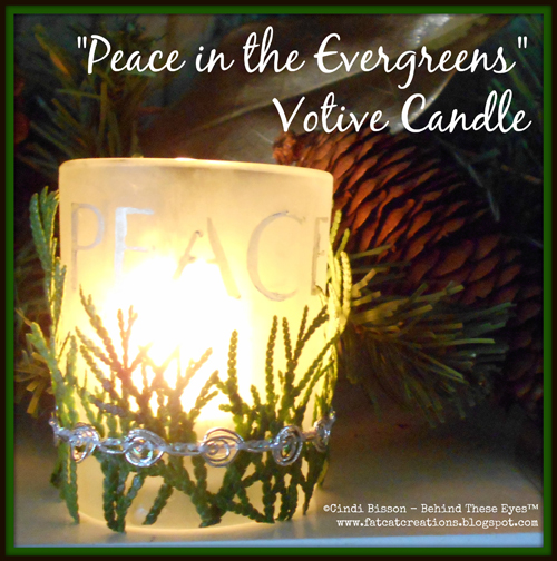 Peace in the Evergreens Votive Candle