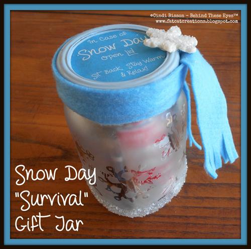 Snow Day Survival Gift Jar