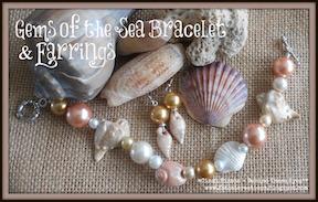 Gems of the Seas Bracelet and Earrings