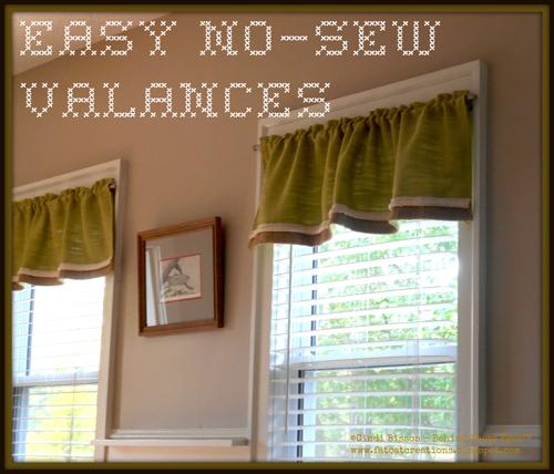 No Sew Valances