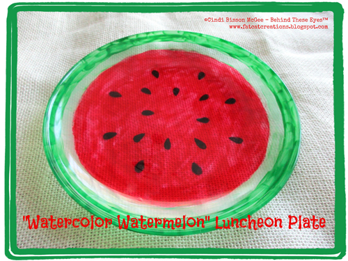Watercolor Watermelon Luncheon Plate