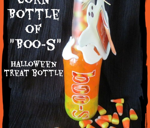 Candy Corn Bottle of Boos