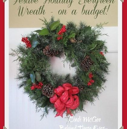 Evergreen Wreath on a Budget