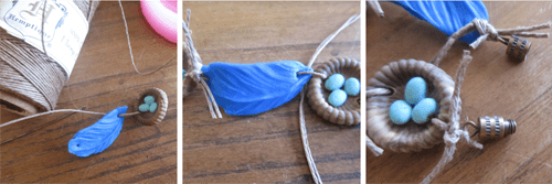 Bluebird's Nest Bracelet How 3