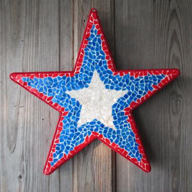 Patriotic Star Door Decoration