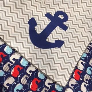 Anchors Away Baby Blanket