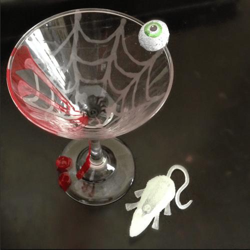 Creepy Cocktail Martini Glass