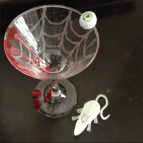 Creepy Cocktail Martini Glass