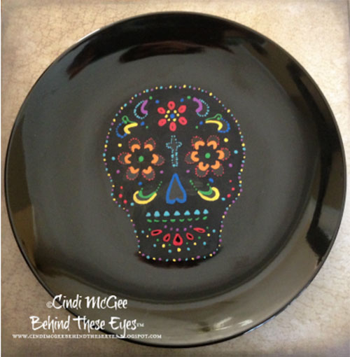 Day of the Dead plate trademark