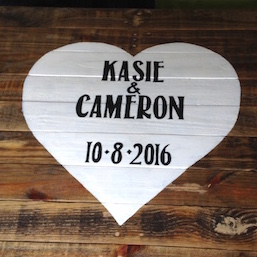 Rustic Reclaimed Wood Guest Book Sign