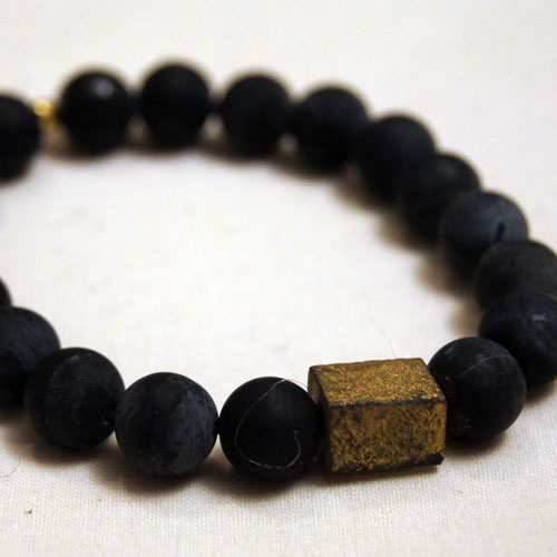 Men's Gold Block Bracelet