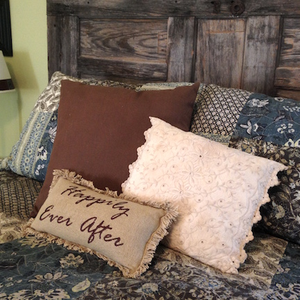 Re-purposed Vintage Linens Pillow