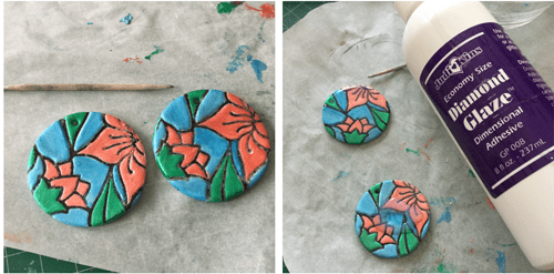 Floral Disc Earrings HOW 3