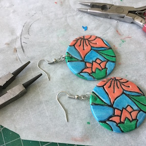 Floral Disc Earrings HOW 4