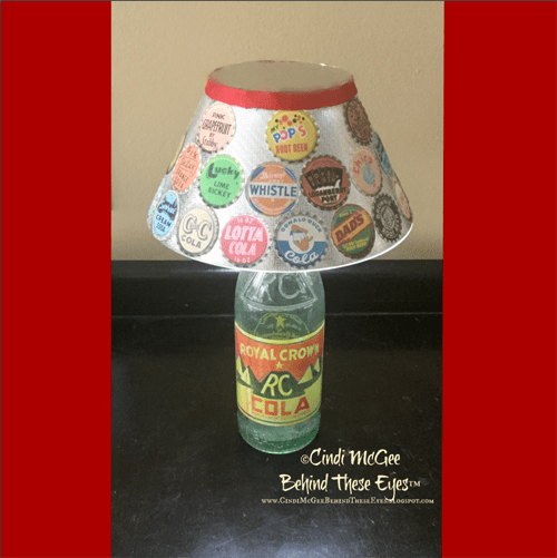 Vintage Soda Bottle Lamp