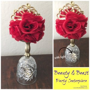 Beauty & The Beast Party Centerpiece