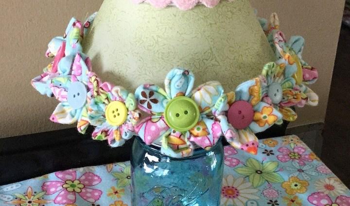 Fabric Flower Lampshade
