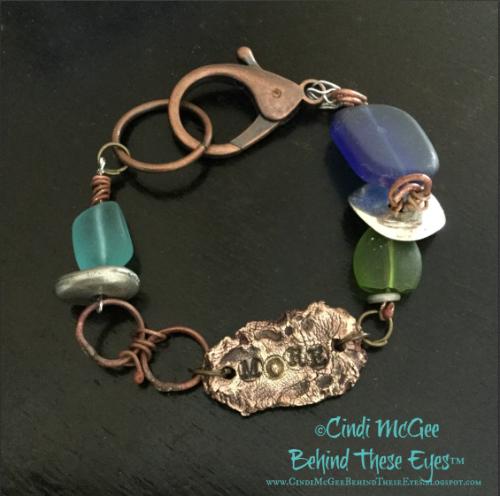 metal clay bracelet watermarked