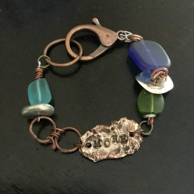 metal clay bracelet