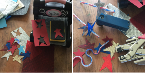 Easy Patriotic Star Straw Toppers how to