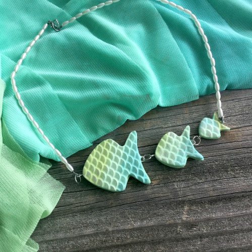 Blended Fish Necklace