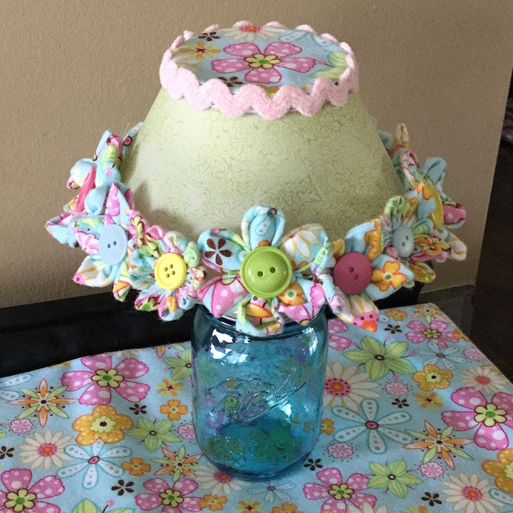 Fabric Flower Lampshade