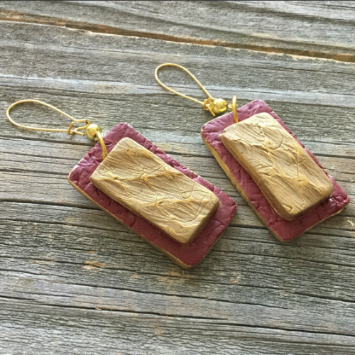 Twice Textured Clay Earrings