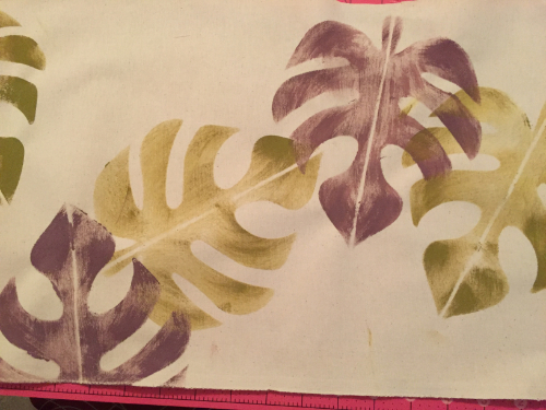 Stenciled Tropical Table Runner 6