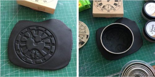 Steampunk Clock Face Votive HOW 6