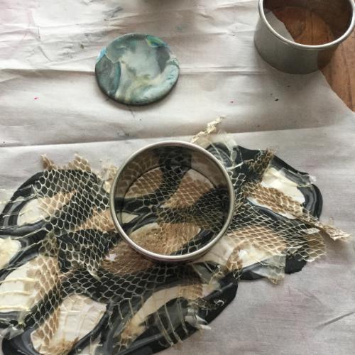 Snakeskin Polymer Clay Pendant How 7