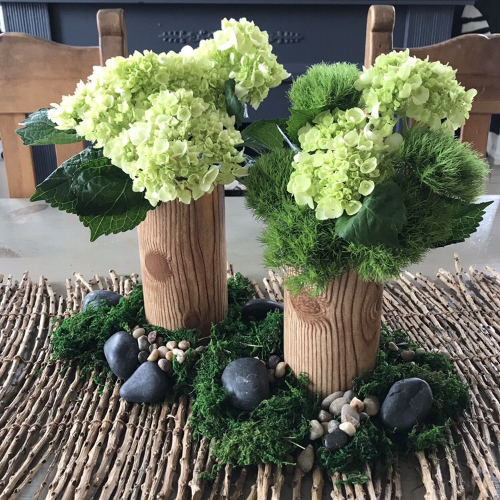 Faux Wood Vase/Centerpiece