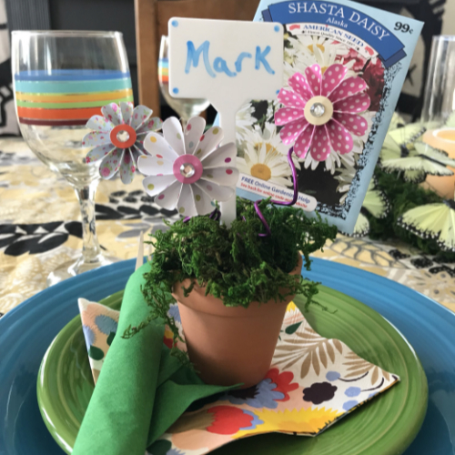 Dollar Store Garden Party Placeholders