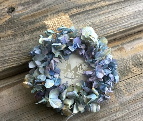 Dried Hydrangea Mini Diffuser Wreath