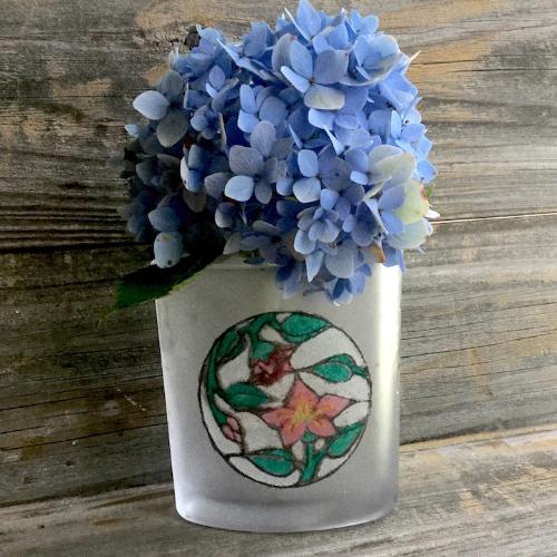 Etched Sand Art Vase