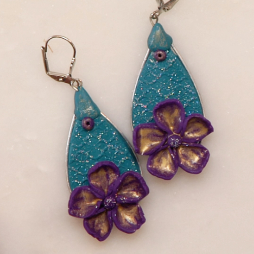 Floral Sparkle Earrings