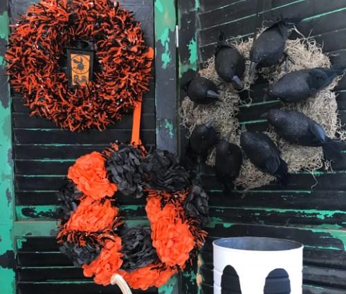 Dollar Store Halloween Wreaths