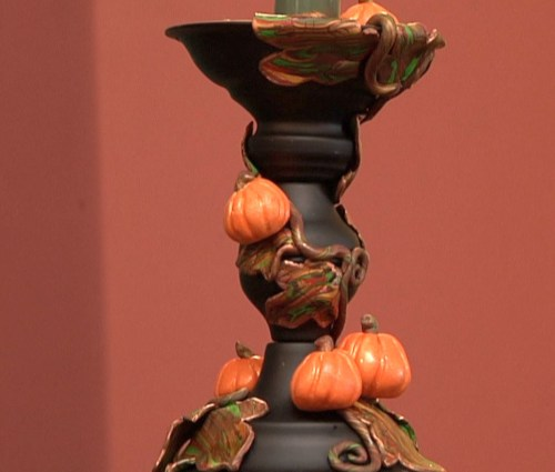 Fall Harvest Candlestick