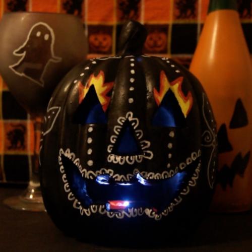 Dios de Los Muertos-style Jack 'O Lantern