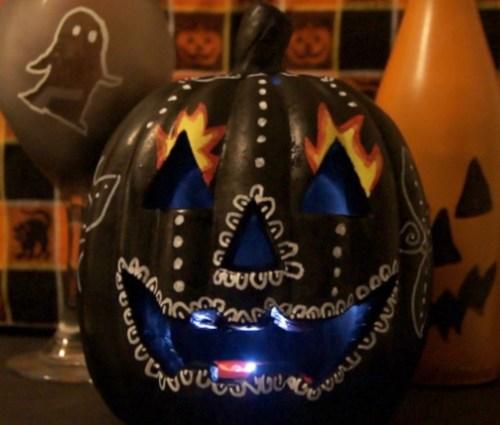 Dios de la Muertes-inspired Pumpkin