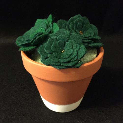 Felt Succulents Planter
