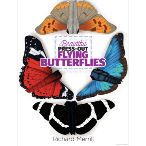 Beautiful Press-Out Flying Butterflies Cover
