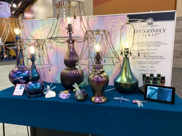 Plaid Dragonfly Glaze display