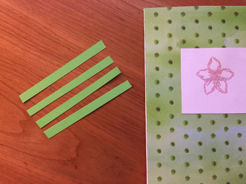 Embossed Flower Greeting Card How 5