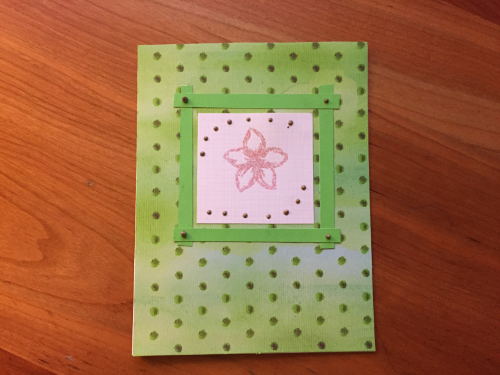 Embossed Flower Greeting Card How 7