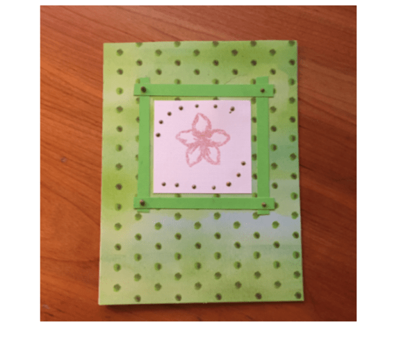 Embossed Flower Greeting Card