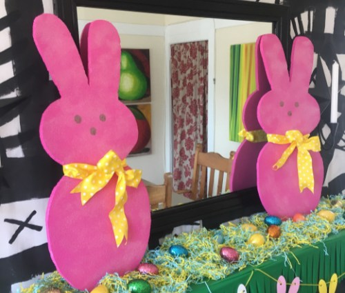 Peeps Inspired Bunny Decoration